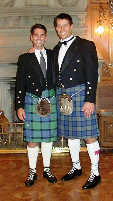 Aaron & Tony Robbins at Skibo Castle, Scotland
