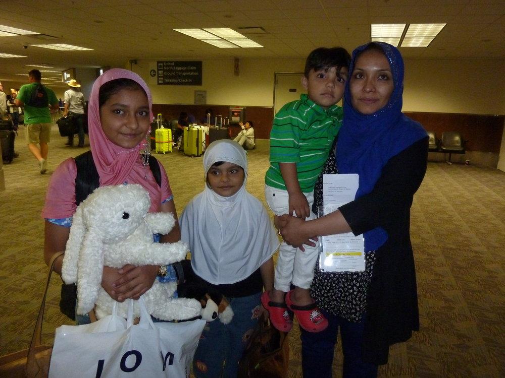 Dunya, Khushi, Abdul Basit, and Nasreen arrive in America.