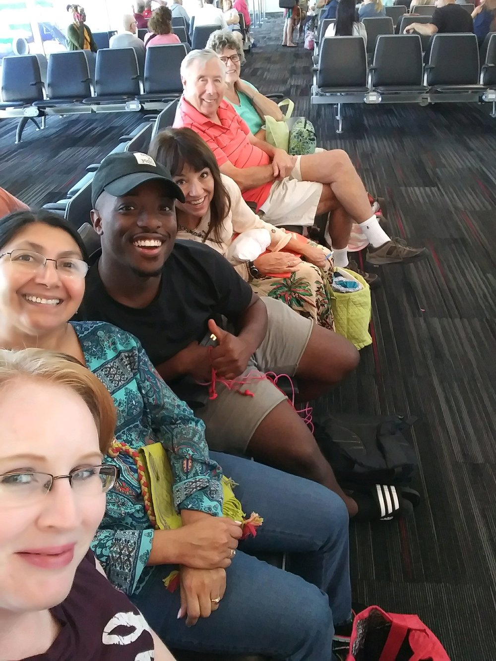 RPC's  Mission Outreach  Team prepares to go to Yucatán, Q.R, Mexico  - Laura Nieto, Dr. Clara Herrera, Kemo Jones, Rev. Mary Cox, Dave and Marge Summers