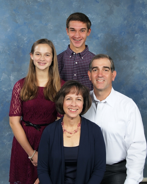 Kristen, Trey, Andrew, and Katie Huffman (in 2015)