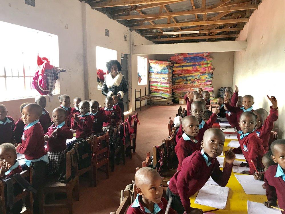 A classroom at Upendo Academy