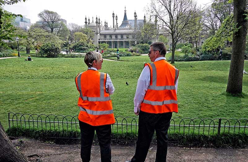 guarding the park Brighton Dome
