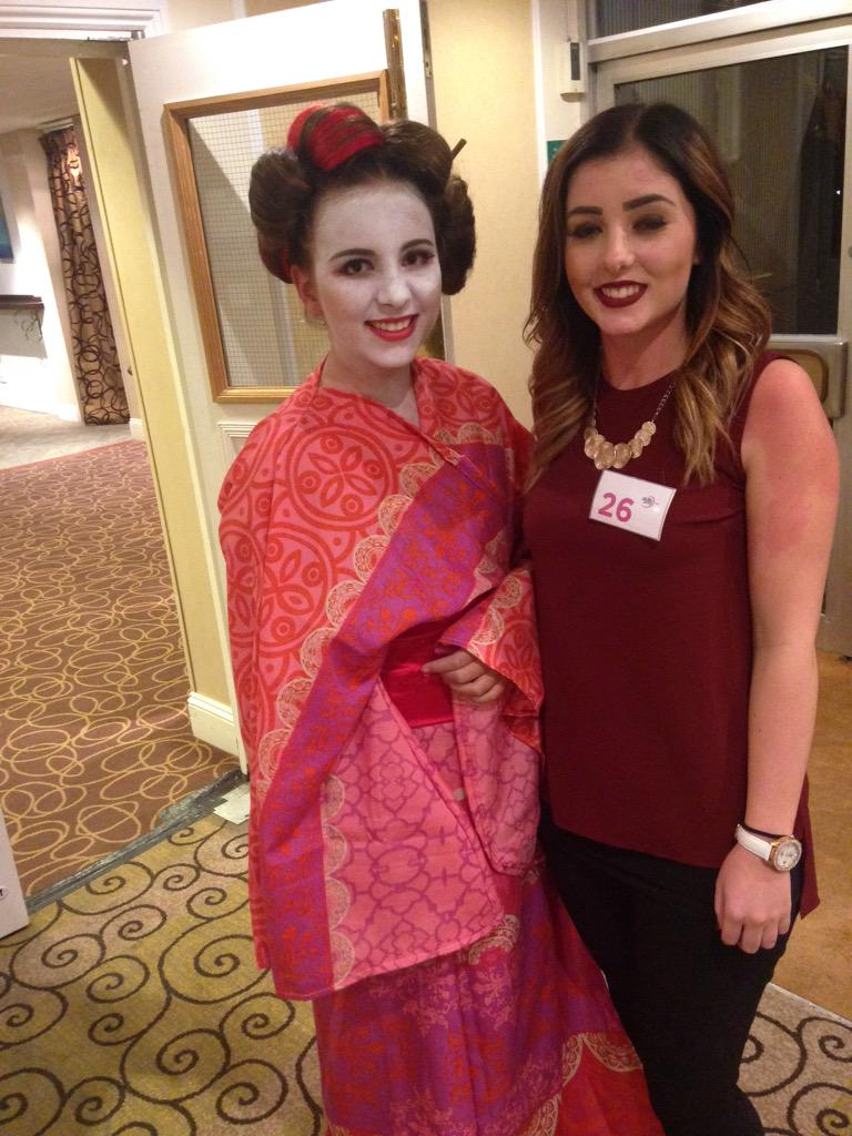 Ellie Kittle and her Geisha Girl Winning Look