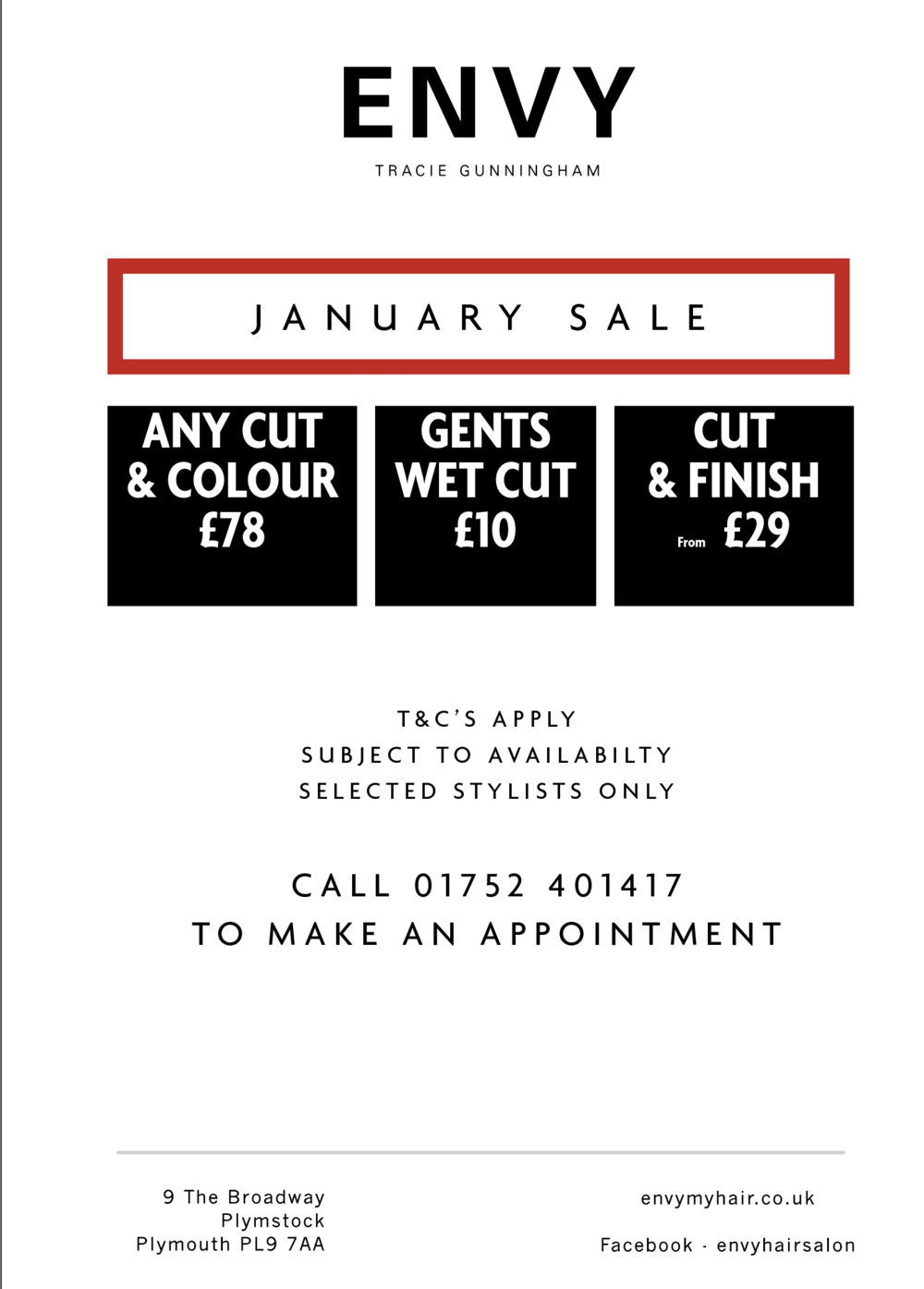 JANUARY HAIR SALE