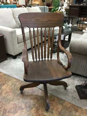 Antique Oak Office Chair Finders Keepers