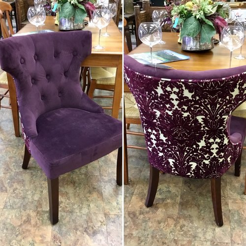 purple tufted wingback chairs 2 available - Tufted Wingback Chair