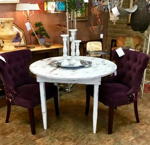 Round White Shabby Chic Dining Table Finders Keepers