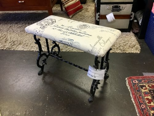 Small Cast Iron Bench Finders Keepers