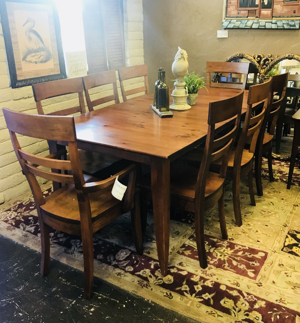 Dining Set W/ 8 Chairs U0026 1 Leaf