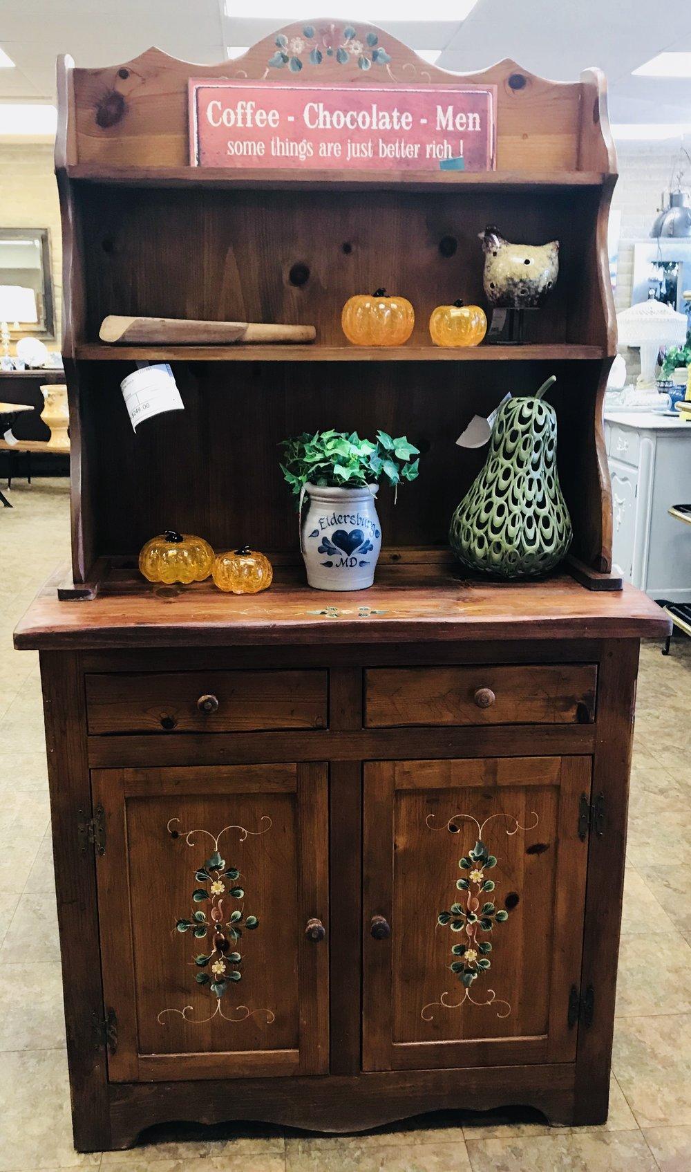 Vintage Pine Hutch