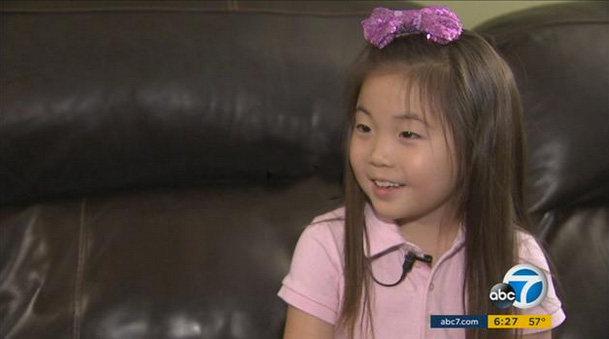 Audrey Kim, 6, of Irvine, wrote to President Obama about the environment and was so surprised he wrote back that she was inspired to raise funds to help marine life (KABC)