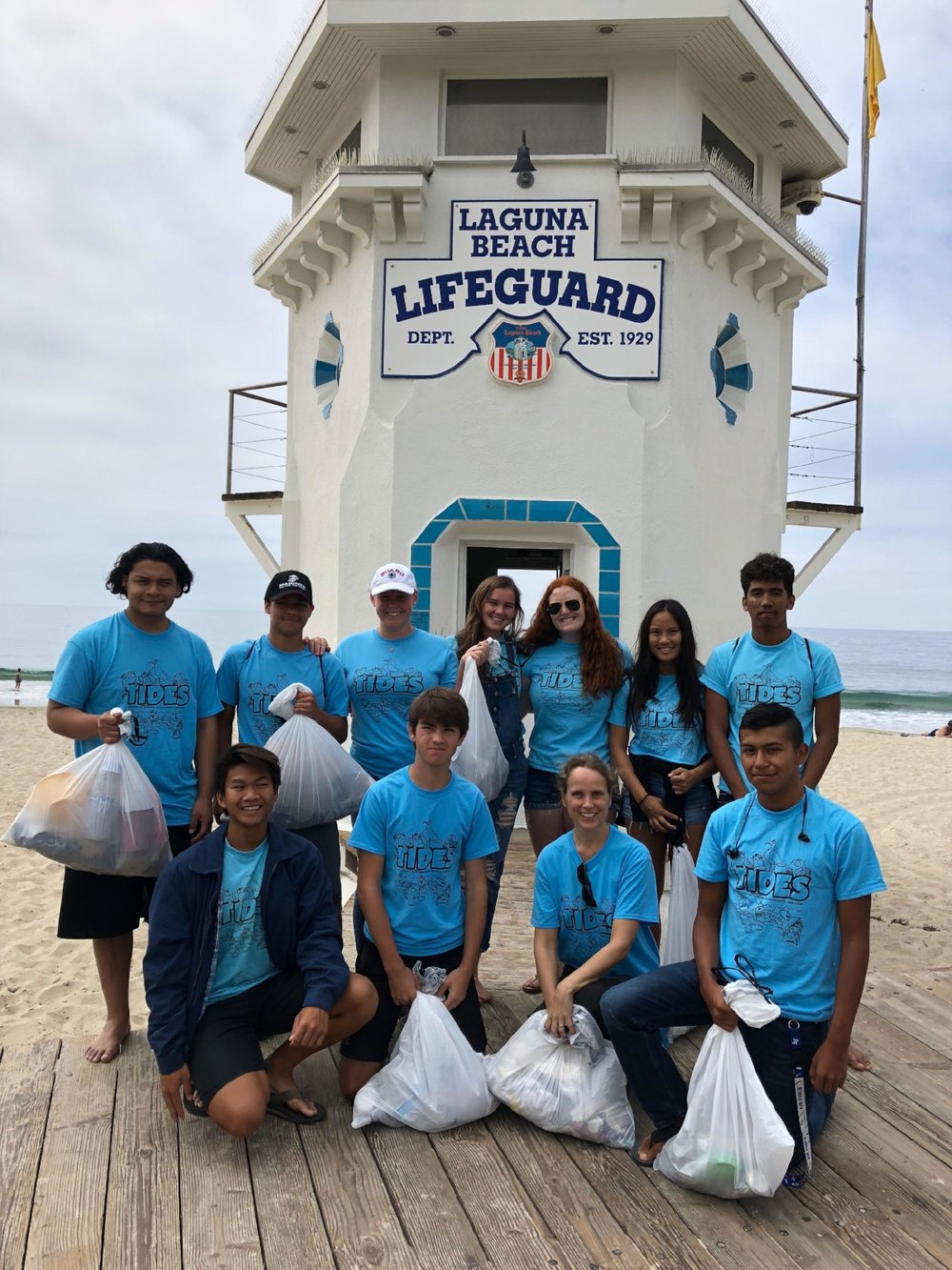 We also hosted a fundraiser cleanup in the spring  - (this being the only cleanup that required a fee) where everyone who participated got one of our t-shirts.