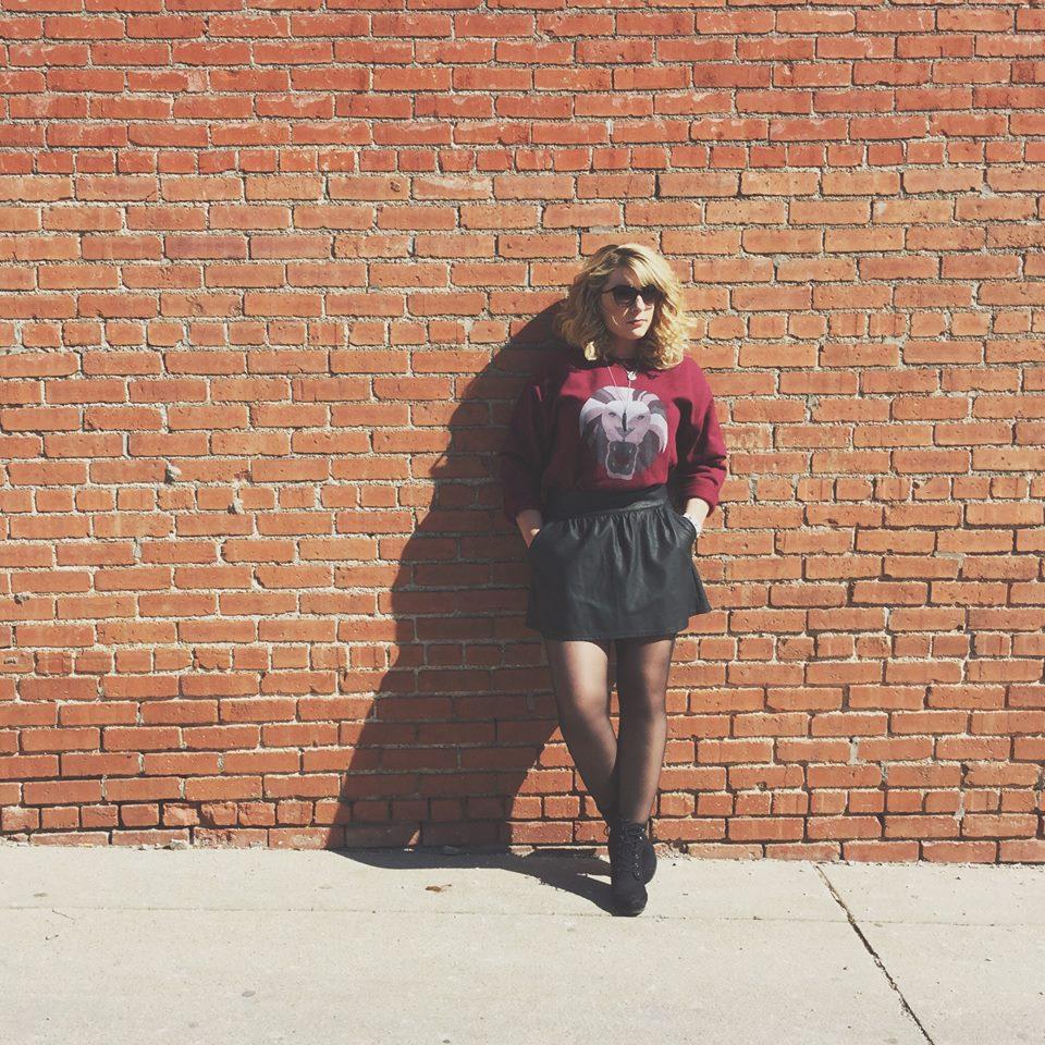 Sweater: Leo Crewneck in Maroon F/W '14, Skirt: American Eagle, Heels: Target, Earrings: Forever 21, Necklace:Earthbound Treasures