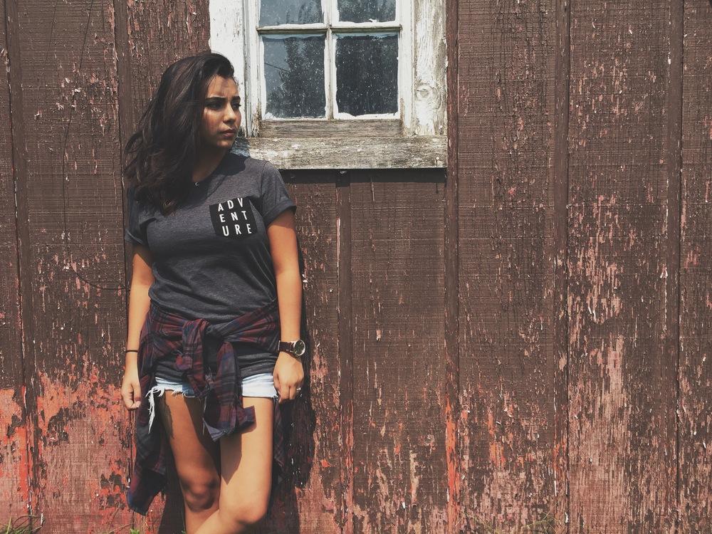 Shirt: Traveler Pocket Tee in Black/Grey Flannel: Volcom Shorts: American Eagle Watch: Nixon