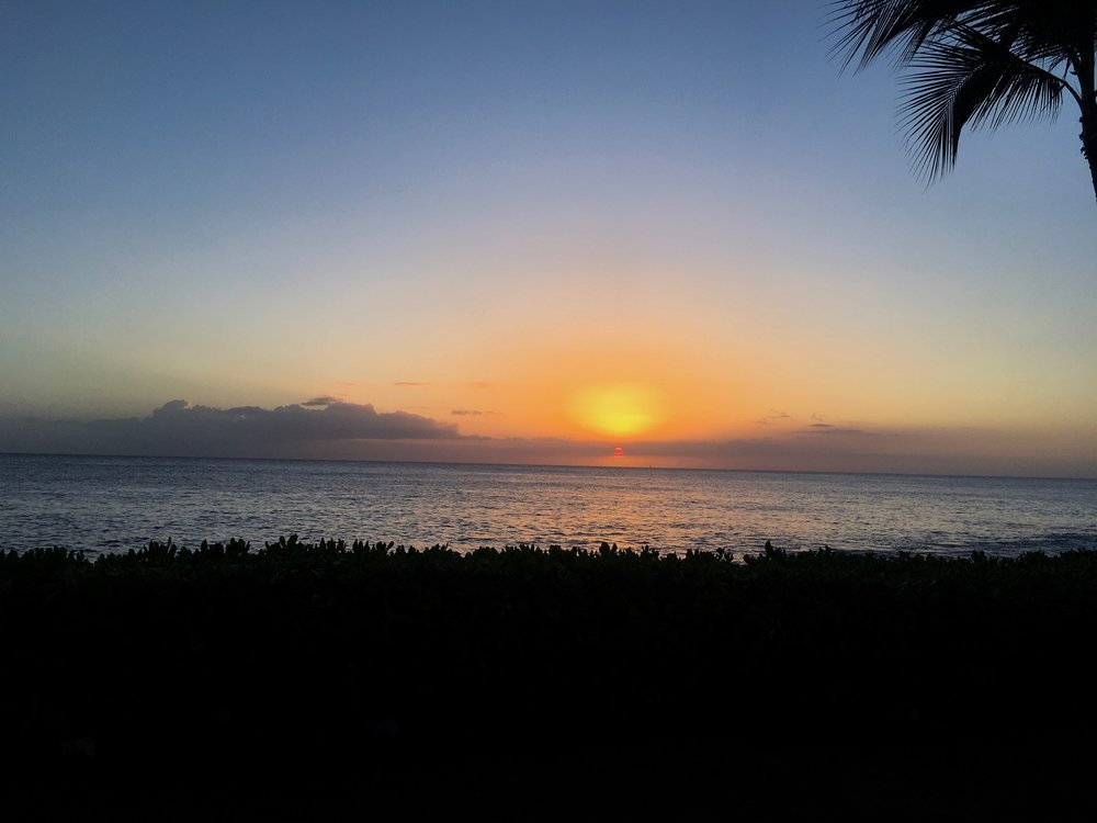 Sunset from our Luau at Paradise Cove