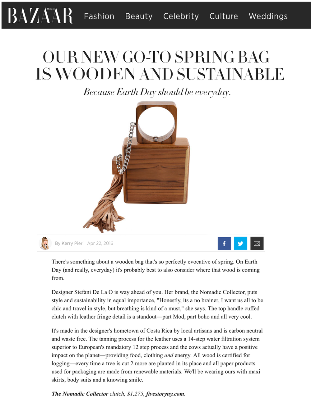 Harpers Bazaar _ Nomadic Collector _ Wooden Sustainable