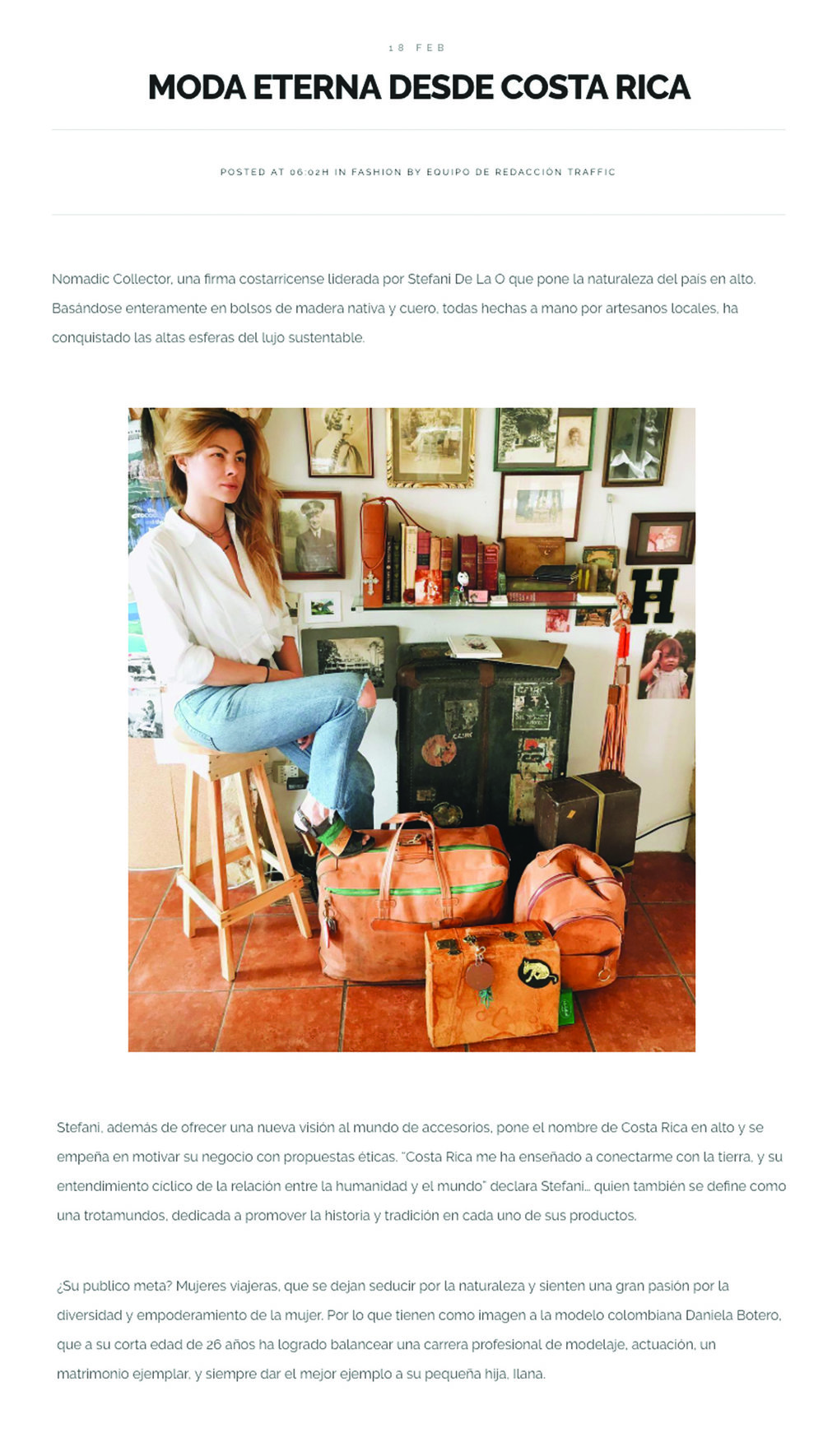 Traffic Magazine _ Moda eterna desde costa rica