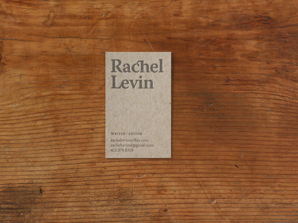 Rachel Levin Business Cards