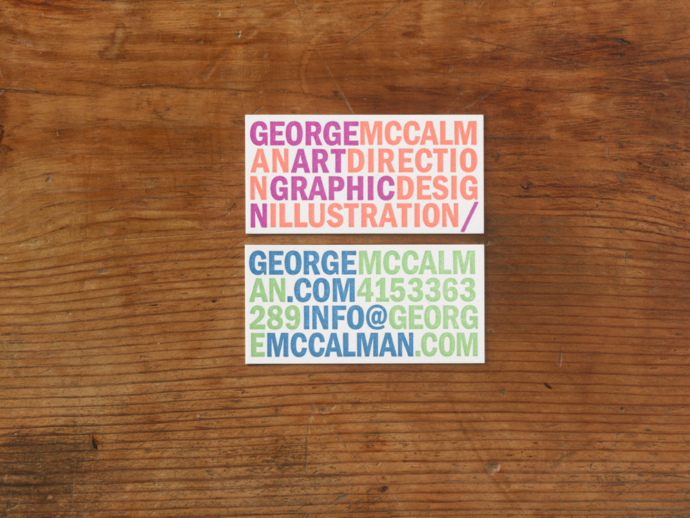 George McCalman Business Cards