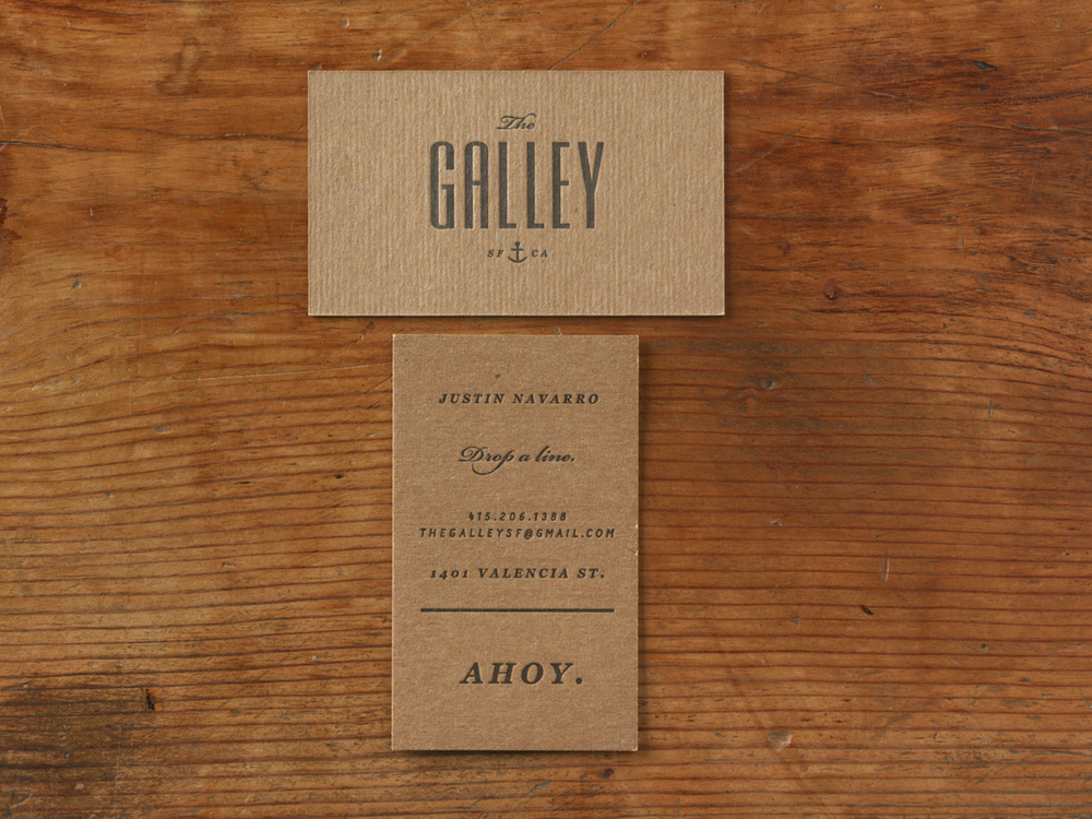 The Galley Business Cards