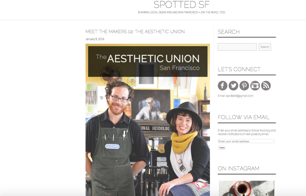 Spotted SF: Meet the Makers  studio visit // January 2014