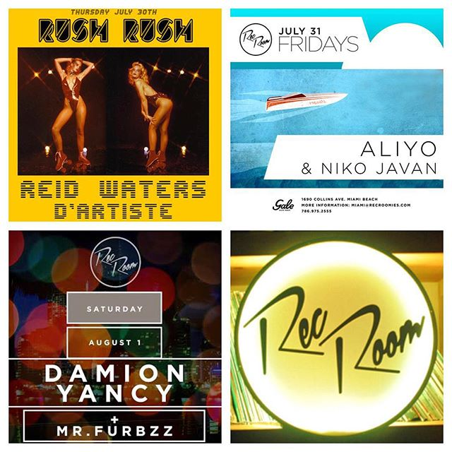 This is what you should be doing this weekend, because no good story ever starts with staying home | @ReidWaters @DanielDartiste @DJAliyo @nikojavan @DamionYancy and @MrFurbzzz |  #RUSHRUSH #ComeParty #Miami #NightLife #Club #Dance #Party #RecRoom