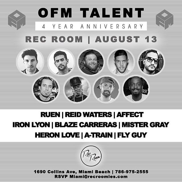 @ofmtalent is celebrating their #4YearAnniversary with us next weekend and it is going to be #EPIC! Stay tuned for give always and prizes, and come join us next weekend for the #Party !