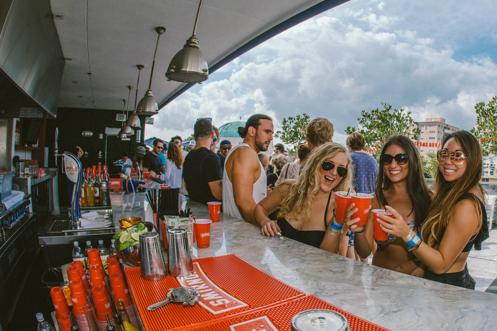 Cheers at the Smirnoff Bar During Smirnoff Sound Collective Miami Day Party.jpg