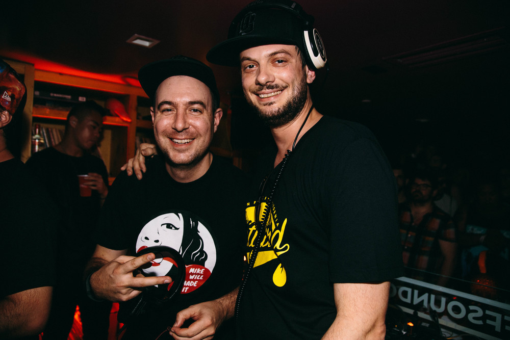 Sacha Robotti and Justin Martin at the Smirnoff Sound Collective Miami Night 4 Party.jpg