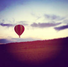 hot air ballon burgundy