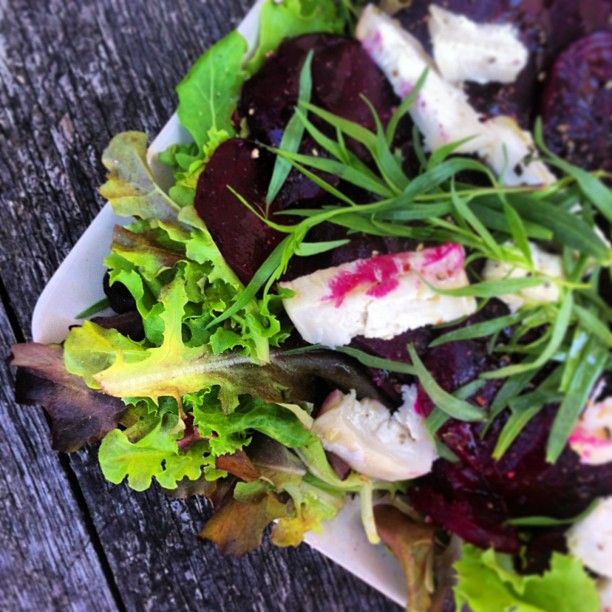 A perfect salad for a cycling picnic in Burgunyd.