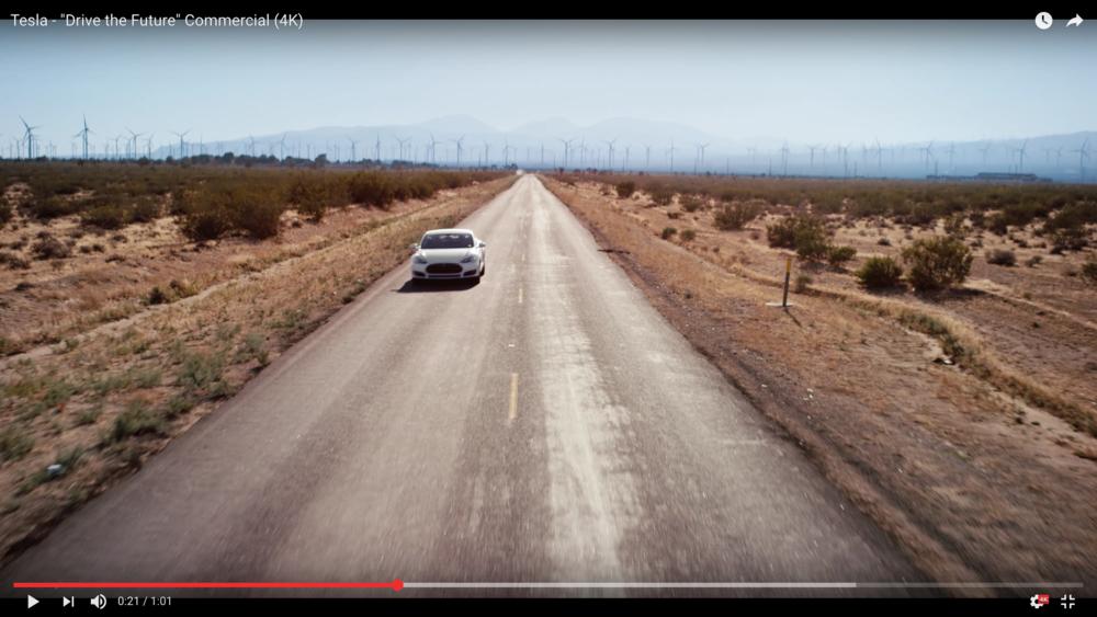 Screen grab of final footage