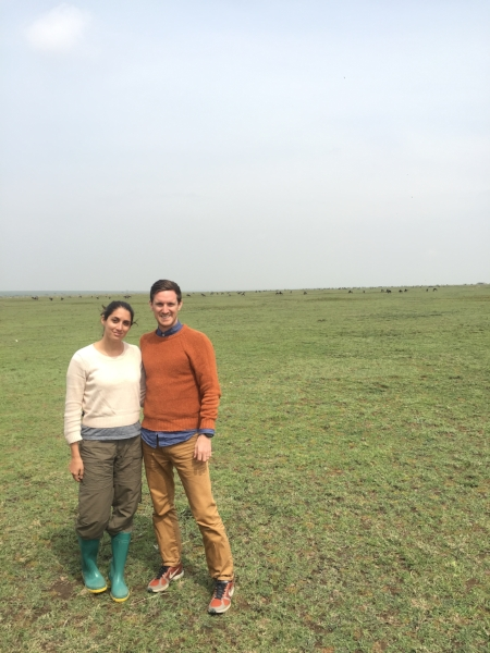 IN THE SERENGETI ON OUR ACTUAL HONEYMOON.