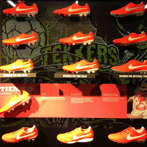 orange nike football niketown