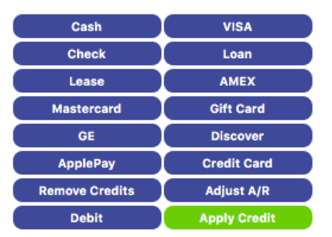 "Apply any payments that the customer may have previously made to the order by going to the ""Payments"" tab/sub section in the ""Invoice"" window and click on the ""Apply Credit"" button."