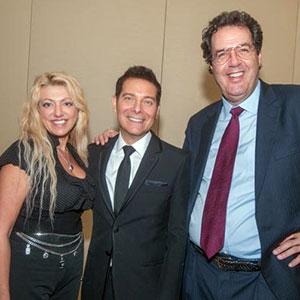 Michael Feinstein (center) Victoria Skystima & Joel A Feingold