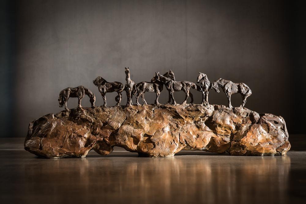 Beautiful Together  l  Bronze  l  9x24x4  l  $4,000