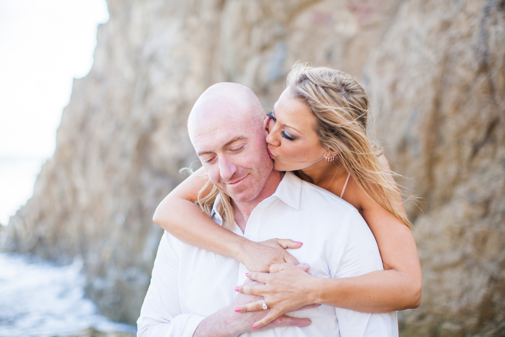 Corinne + Joe's Magical beach engagement at El Matador Beach in Malibu. 8-22-2015