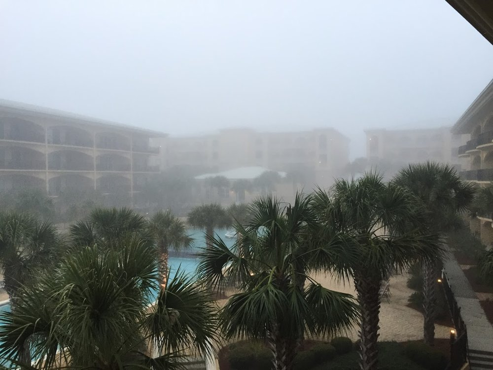 Santa Rosa Beach, FL when the fog rolled in.
