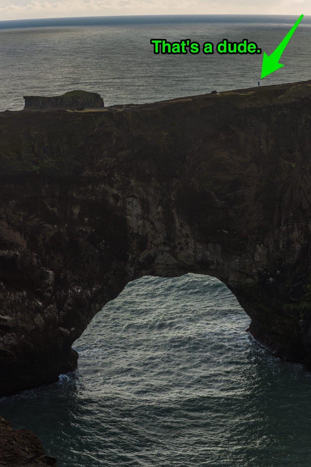 Dyrhólaey Arch perspective