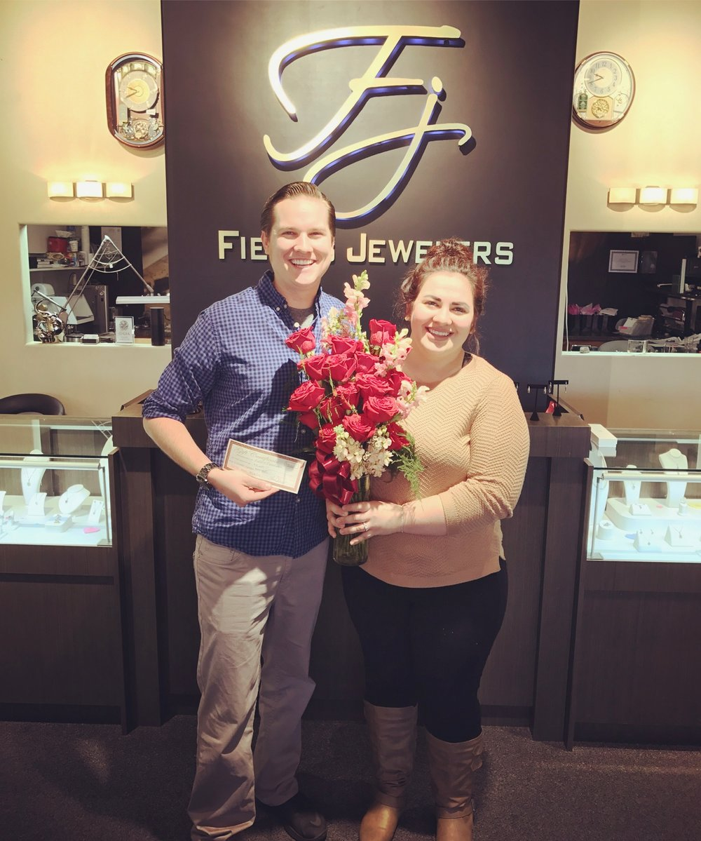 "GRAND PRIZE WINNER • REDDING BRIDAL SHOW •  FIELD""S JEWELERS"