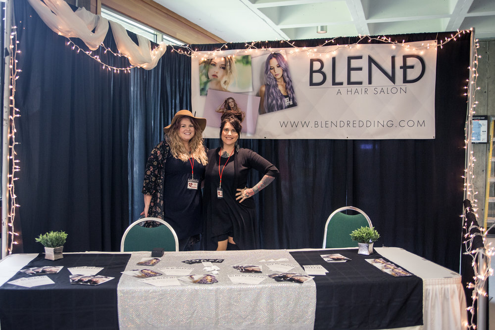 Blend. A Hair Salon Redding Bridal Show Wedding Expo