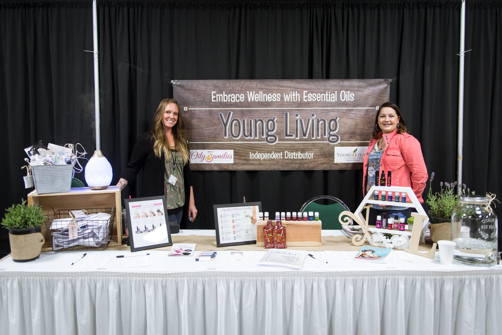 Kassie Emerson with Young Living Essential Oils Redding Bridal Show Wedding Expo