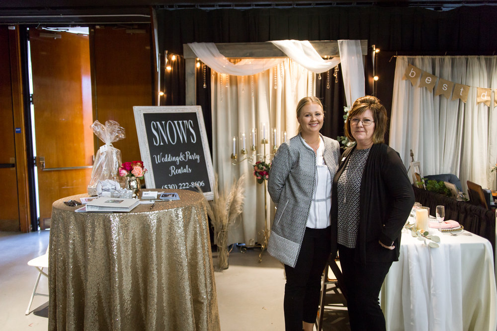 Snows Wedding and Party Rentals Redding Bridal Show Wedding Expo
