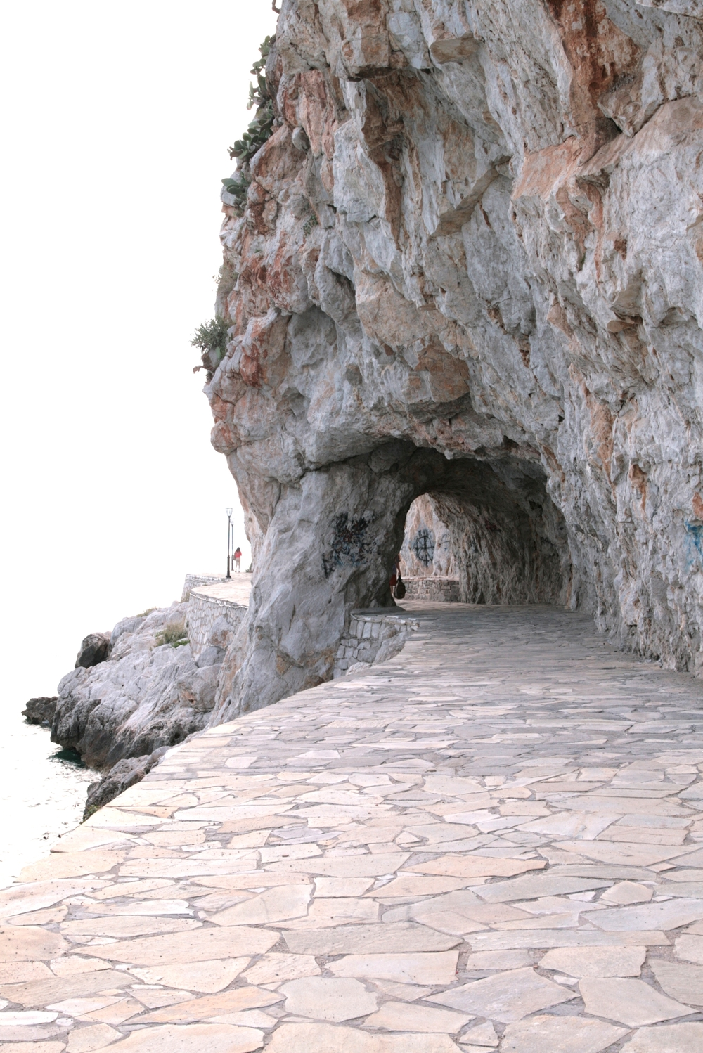Coastal path in Nafplio, Greece.