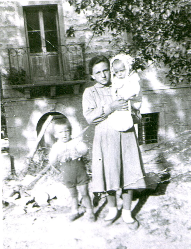 My father as a baby with his older sister and brother.