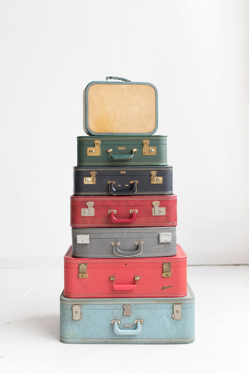 Stack of Colorful Suitcases