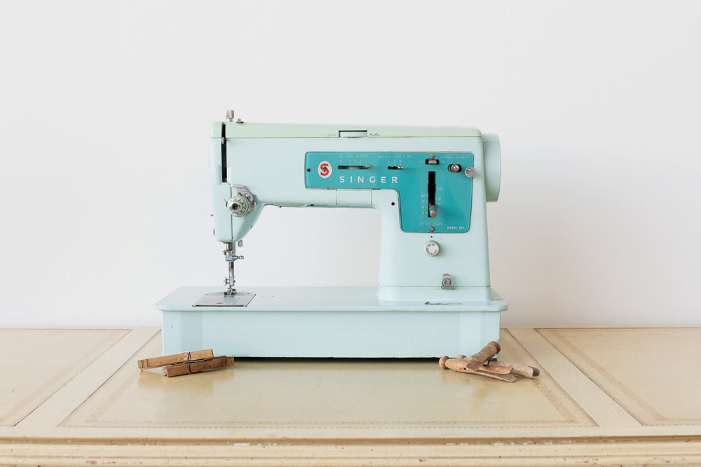 Teal Singer Sewing Machine