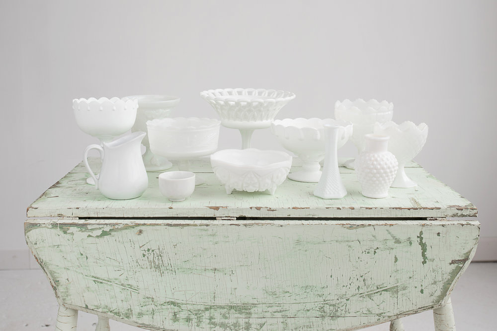 White Milkglass Collection