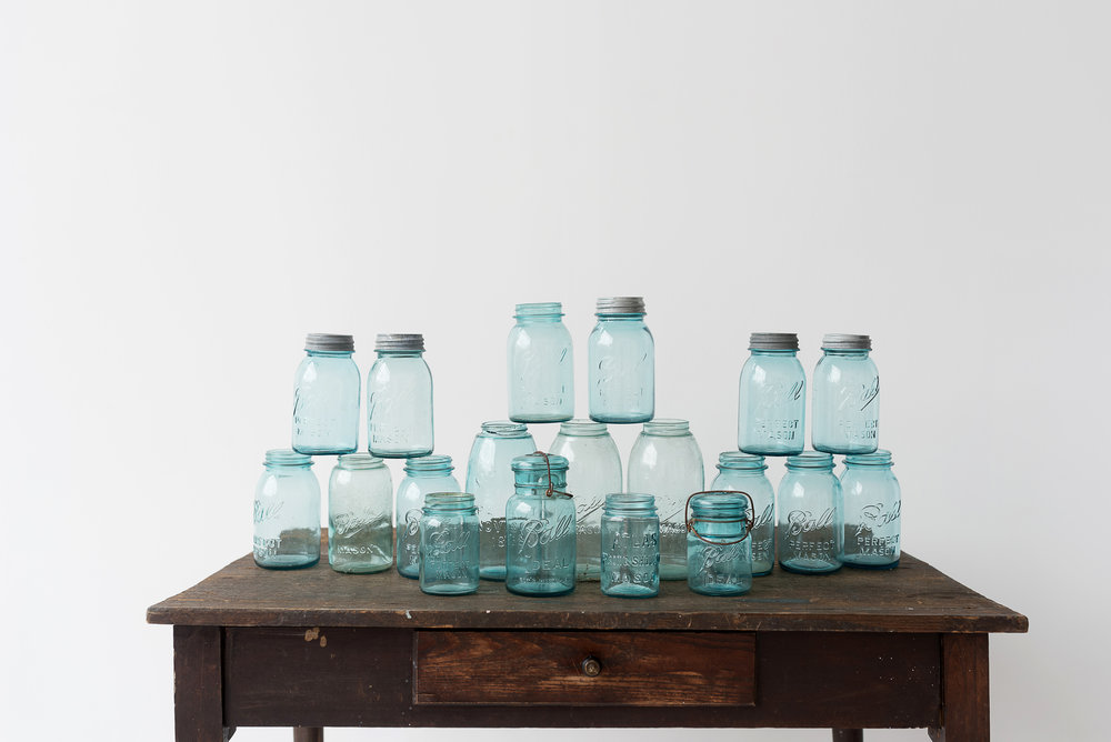Blue Mason Jar Collection